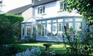 White UPVC P Shaped conservatory large